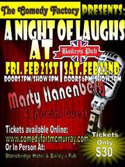 The Comedy Factory presents Night of Laughs at Bailey's Pub!